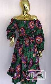 Ankara A-Line Offshoulder Gown | Clothing for sale in Rivers State, Port-Harcourt