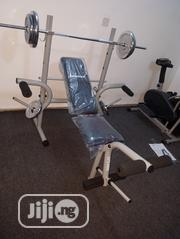Weight Bench With Complete 50kg Weight Set | Sports Equipment for sale in Lagos State, Ibeju