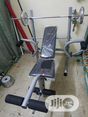 Sports Bench Press With 50kg Weight Set | Sports Equipment for sale in Lagos State, Ifako-Ijaiye