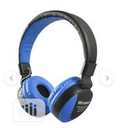 MS Stereo Headset Ms-771a Blue | Headphones for sale in Lagos State, Ikeja