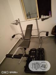 Adjustable Bench With 50kg Dumbell | Sports Equipment for sale in Lagos State, Ikoyi