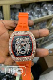 Richard Mille Men's Orange Rubber Wristwatch | Watches for sale in Lagos State, Surulere
