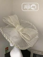 Stunning Large Fully Embellished Cream Sinamay Fascinator With Pearls | Clothing Accessories for sale in Lagos State, Ibeju