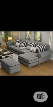 Gray-Coloured L- Shape Sofa | Furniture for sale in Lagos State, Ikeja
