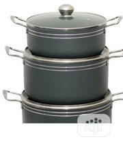 3 Fancy Deep Pot With Glass Cover | Kitchen & Dining for sale in Lagos State, Alimosho