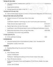 Technology CV | Technology CVs for sale in Abuja (FCT) State, Central Business District