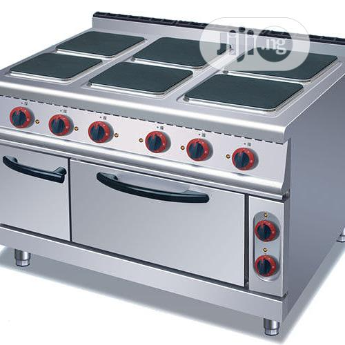 Six Burner Electric Cooker With Oven