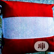 Throw Pillow In Red And White | Home Accessories for sale in Lagos State, Ikeja