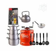 Economy Kitchen Bundle (6kg Gas Cylinder + 4 Pots + 1 Kettle + Others | Kitchen & Dining for sale in Lagos State, Lagos Mainland