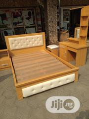 6×4•5 High Quality Bedframe With Dressing Mirror And Dressing Chair | Home Accessories for sale in Lagos State, Ojo