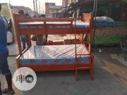 4ft Down 3ft Up. High Quality Wooden Bunk Bed With Mattress | Furniture for sale in Lagos State, Ojo