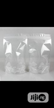 Transparent Stand Up Ziplock Pouch | Manufacturing Materials & Tools for sale in Lagos State, Surulere