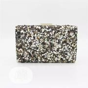 Black and White 3D Stoned Clutch /Party Purse | Bags for sale in Lagos State, Ikeja