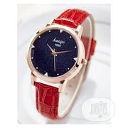 Kasiqi Classic Leather Watch - Red   Watches for sale in Lagos State, Agege