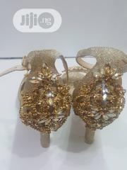 Low Heel Gold Sandal | Shoes for sale in Lagos State, Isolo