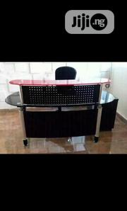 Office Receptionist Glass Table With Mobile Drawer | Furniture for sale in Lagos State, Ojo