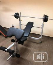 Commercial Weight Bench With 50kg Barbell | Sports Equipment for sale in Lagos State, Lagos Mainland