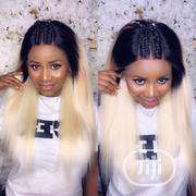 Straight Blonde Frontal Wig With Dark Root   Hair Beauty for sale in Lagos State
