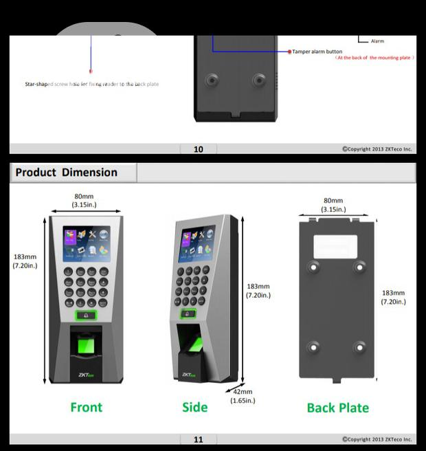 F18 Fingerprint Access Controller By Zkteco, Time Attendance, ZK-F-18