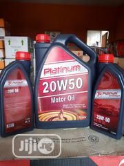 Original 5litres 20W50 Platinum Motor Oil In Stock | Vehicle Parts & Accessories for sale in Lagos State, Mushin
