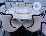 Round Royal Marble Dining Table With 6 Chairs | Furniture for sale in Lagos State, Ojo