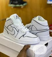 Nike Air Jordan 1 Mid Iridescent Reflective White Sneakers Available | Shoes for sale in Lagos State, Surulere