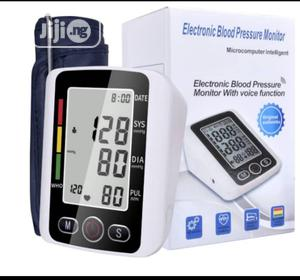 Electronic Blood Pressure Arm Pulse Monitor Voice Function