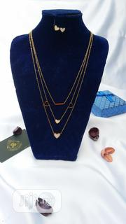 Beautiful Three Ayered Gold and Silver Necklace | Jewelry for sale in Lagos State, Ajah