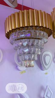 Flush Crystal Chandelier Gold | Home Accessories for sale in Lagos State, Lekki Phase 2