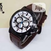 Montblanc Brown Strap Watch | Watches for sale in Lagos State, Surulere