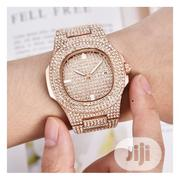 Diamond Stone Studded Unisex Wrist Watch-rose Gold | Watches for sale in Lagos State