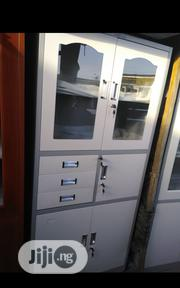 Half Glass And Half Metal Cabinet With Additional Drawers And Safe | Safety Equipment for sale in Lagos State, Ojo