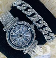 Forecast Rhinestones Silver Watch With Bracelet | Watches for sale in Lagos State, Lagos Island