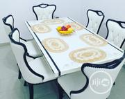 High Quality Imported Marble Dinning Table With 6 Chair   Furniture for sale in Lagos State, Lagos Island