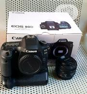 Canon DSLR EOS 80D+50mm STM Lens+Battery Grip and 2 Batteries | Photo & Video Cameras for sale in Lagos State, Ikeja