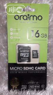 Oraimo 16GB Memory Card Micro SDHC Card | Accessories for Mobile Phones & Tablets for sale in Lagos State, Ikotun/Igando
