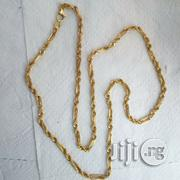 Tested 18krt Gold Necklace Twisted Bar Design Short | Jewelry for sale in Lagos State