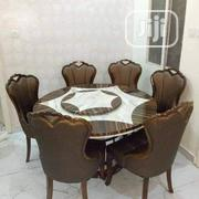 Marble Rotating Top Dinning Table And Chairs | Furniture for sale in Lagos State, Ojo