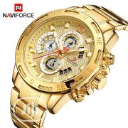 Naviforce Gold Wristwatch | Watches for sale in Lagos State, Ikorodu