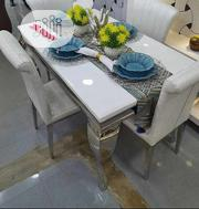 Four Chairs Marble Dining Table | Furniture for sale in Lagos State, Ojo