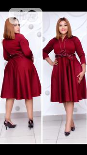 Lovely Turkey Red Flare Dress for Ladies | Clothing for sale in Lagos State, Egbe Idimu