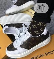 Louis Vuitton White/Brown Unisex Sneakers | Shoes for sale in Lagos State, Ikeja