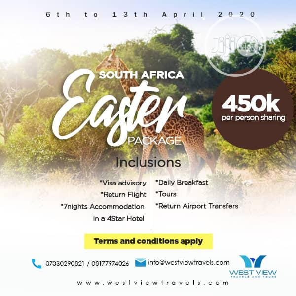 South Africa Ester Package 6th To 13th April 2020