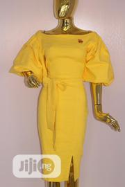 Yellow Ball Sleeve Dress | Clothing for sale in Rivers State, Port-Harcourt