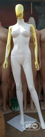Female Mannequin Glossy White And Gold Chrome   Store Equipment for sale in Edo State, Benin City