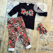 Turkish Black Top and Flower Trouser With Hairband | Children's Clothing for sale in Lagos State, Lagos Island