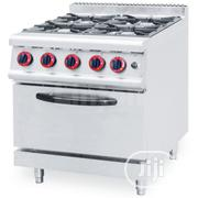 4 Burner Industrial Gas Cooker With Oven | Restaurant & Catering Equipment for sale in Lagos State, Ojo