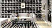 3D PVC Wall Paper Black Light Gray Geometry   Home Accessories for sale in Lagos State, Ikeja