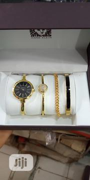 Ann Klein Female Gold Wristwatch & Bracelet | Jewelry for sale in Lagos State, Surulere