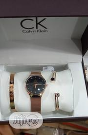 Calvin Klein Female Rose Gold Wristwatch & Bracelets | Jewelry for sale in Lagos State, Surulere